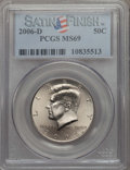 Kennedy Half Dollars, 2006-D 50C Satin Finish MS69 PCGS. PCGS Population: (33/0). ...