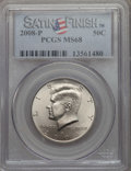 Kennedy Half Dollars, 2008-P 50C Satin Finish MS68 PCGS. PCGS Population: (322/13). ...