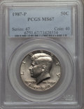 Kennedy Half Dollars, 1987-P 50C MS67 PCGS. PCGS Population: (88/1). NGC Census: (71/0). ...