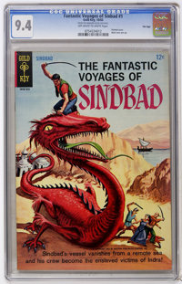 Fantastic Voyages of Sindbad #1 File Copy (Gold Key, 1965) CGC NM 9.4 Off-white to white pages