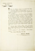 Political:Miscellaneous Political, [Broadside] Decree of the Congreso General Regarding theRestoration of Order in Coahuila and Texas....