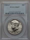 Kennedy Half Dollars, 1989-P 50C MS67 PCGS. PCGS Population: (49/0). NGC Census: (57/0)....