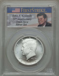 Kennedy Half Dollars, 2014-S 50C Silver, Enhanced Finish, 50th Anniversary Set, FirstStrike, MS69 PCGS. PCGS Population: (249/1614). NGC Census:...
