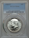 Kennedy Half Dollars, 1968-D 50C MS66 PCGS. PCGS Population: (504/36). NGC Census:(413/9). Mintage 246,951,936. ...