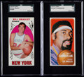 Basketball Cards:Lots, 1969 Topps Bill Bradley & 1970 Topps Wilt Chamberlain SGCGraded Pair (2)....