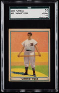 Baseball Cards:Singles (1940-1949), 1941 Play Ball Jimmie Foxx #13 SGC 55 VG/EX+ 4.5....