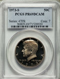 Proof Kennedy Half Dollars, 1973-S 50C PR69 Deep Cameo PCGS. PCGS Population: (7522/28). NGC Census: (125/0). ...