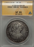 Chile, Chile: Charles IV 8 Reales 1799 So-DA VF35 Details (Cleaned)ANACS,...