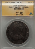 Chile, Chile: Charles IV 8 Reales 1796 So-DA VF30 Details (Tooled,Corroded) ANACS,...