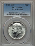 Kennedy Half Dollars, 1964-D/D 50C Repunched Mintmark, FS-504, MS63 PCGS. PCGSPopulation: (3/22). Mintage 156,205,440....