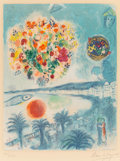 Prints:European Modern, After Marc Chagall (1887-1985), by Charles Sorlier. Soleilcouchant, from Nice and the Côte d'Azur, 1967.Lithograph...