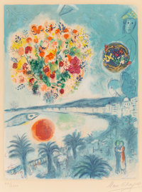 After Marc Chagall (1887-1985), by Charles Sorlier Soleil couchant, from Nice and the Côte d'Azur