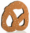 Post-War & Contemporary:Pop, Claes Oldenburg (b. 1929). N.Y.C. Pretzel, 1994. Screenprintin colors on corrugated cardboard. 6 x 6 x 1/2 inches (15.2...