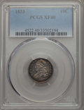 Bust Dimes: , 1833 10C XF40 PCGS. PCGS Population: (43/331). NGC Census:(18/245). CDN: $220 Whsle. Bid for problem-free NGC/PCGS XF40. M...