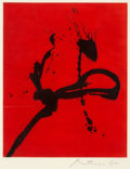Prints, Robert Motherwell (1915-1991). Gesture IV, 1976-77. Lift-ground etching with aquatint in colors on JB Green paper. 19-5/...