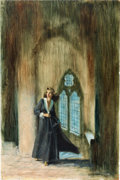Original Comic Art:Covers, Harry Barton - Gothic Romance Book Cover Original Art (undated)....