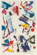 Prints:Contemporary, Sam Francis (1923-1994). Untitled (SFE-055), 1989. Aquatintand etching in colors on wove paper. 9 x 5-7/8 inches (22.9 ...