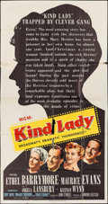 """Movie Posters:Thriller, Kind Lady & Others Lot (MGM, 1951). One Sheets (2) (27"""" X 41"""") & Three Sheets (2) (41"""" X 79"""" & 41"""" X 79.5""""). Thriller.. ... (Total: 4 Items)"""
