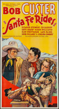"Movie Posters:Western, Santa Fe Rides (Reliable, 1937). Three Sheet (41"" X 77""). Western.. ..."