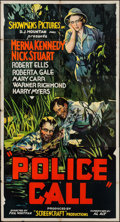 "Movie Posters:Crime, Police Call (Showmens Pictures, 1933). Three Sheet (41"" X 77"").Crime.. ..."