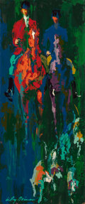 Fine Art - Painting, American:Contemporary   (1950 to present)  , LeRoy Neiman (American, 1921-2012). Huntsmen and Hounds,1967. Oil on Masonite. 14-1/2 x 6 inches (36.8 x 15.2 cm). Sign...