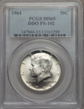 Kennedy Half Dollars, 1964 50C Doubled Die Obverse, FS-102, MS65 PCGS. PCGS Population:(40/4). Mintage 273,300,000. ...