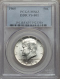 Kennedy Half Dollars, 1964 50C Doubled Die Reverse, FS-801, MS63 PCGS. PCGS Population:(1/6). Mintage 273,300,000. ...