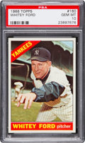 Baseball Cards:Singles (1960-1969), 1966 Topps Whitey Ford #160 PSA Gem Mint 10 - The Ultimate PSAExample! ...
