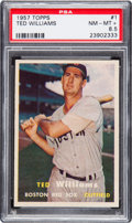 Baseball Cards:Singles (1950-1959), 1957 Topps Ted Williams #1 PSA NM-MT+ 8.5....