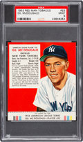 Baseball Cards:Singles (1950-1959), 1953 Red Man Gil McDougald #23 PSA Mint 9 - Pop two, None Higher....
