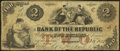 Obsoletes By State:Rhode Island, Providence, RI- Bank of the Republic $2 Oct. 16, 1855. ...