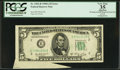 Error Notes:Attached Tabs, Fr. 1962-B $5 1950A Federal Reserve Note. PCGS Apparent Very Fine35.. ...