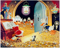 Memorabilia:Disney, Carl Barks Visitor From Underground Signed Limited Edition Miniature Lithograph Print #150/595 (Another Rainbow, 1...