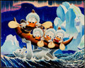 Memorabilia:Disney, Carl Barks Luck of the North Signed Gold Plate Limited Edition Miniature Lithograph Print #46/100 (Another Rainbow...
