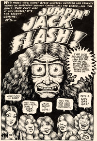 "Robert Crumb Thrilling Murder Comics #1 ""Jumpin' Jack Flash"" Complete 4-Page Story Original Art (San Francisco..."