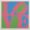 Prints:Contemporary, Robert Indiana (b. 1928). Roses, from the Garden ofLove portfolio, 1982. Screenprint in colors on Fabriano paper.2...