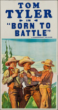 "Movie Posters:Western, Born to Battle (Screencraft, R-1930s). Stock Three Sheet (41"" X 78""). Western.. ..."