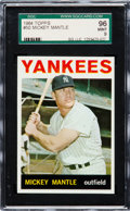 Baseball Cards:Singles (1960-1969), 1964 Topps Mickey Mantle #50 SGC 96 Mint 9 - None Higher. ...