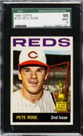 Baseball Cards:Singles (1960-1969), 1964 Topps Pete Rose #125 SGC 96 Mint 9 - Pop Two, None Higher. ...