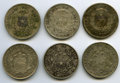 Chile, Chile: Republic Lot of Six silver Pesos,... (Total: 6 coins)