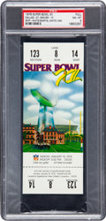 Football Collectibles:Tickets, 1978 Super Bowl XII Full Ticket, PSA NM-MT 8 - Highest Graded! ...