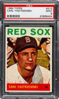 Baseball Cards:Singles (1960-1969), 1964 Topps Carl Yastrzemski #210 PSA Mint 9 - Only Two GradedHigher....