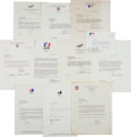 Baseball Collectibles:Others, 1980's-90's Gary Carter Received Correspondence from Major League Baseball Figures Lot of 11 from The Gary Carter Collection. ...