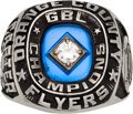 Baseball Collectibles:Others, 2008 Orange County Flyers GBL Championship Ring from The GaryCarter Collection....