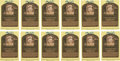 Baseball Collectibles:Others, 2003 Gary Carter Signed Gold Hall of Fame Plaques Lot of 12 fromThe Gary Carter Collection....