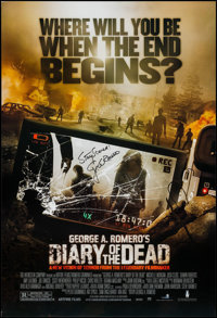 "Diary of the Dead (The Weinstein Company, 2007). Autographed One Sheet (27"" X 40"") SS. Horror"