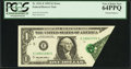 Error Notes:Foldovers, Fr. 1921-E $1 1995 Federal Reserve Note. PCGS Very Choice New 64PPQ.. ...