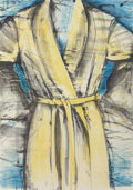 Prints, Jim Dine (b. 1935). Yellow Robe, 1980. Lithograph in colors on Arches paper. 50 x 35 inches (127 x 88.9 cm) (sheet). Ed....