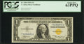 Small Size:World War II Emergency Notes, Fr. 2306 $1 1935A North Africa Silver Certificate. F-C Block. PCGS Choice New 63PPQ.. ...