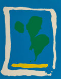 Prints:Contemporary, Helen Frankenthaler (1928-2011). Air Frame, from the NewYork Ten portfolio, 1965. Screenprint in colors on Arches d...